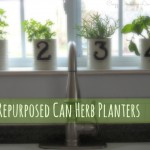 Repurposed Can Herb Planters