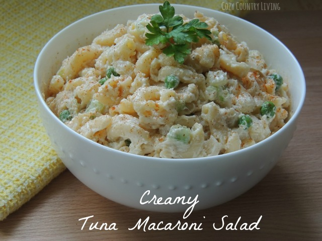 Creamy tuna pasta salad for Macaroni salad with tuna fish