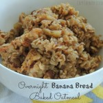 Overnight Banana Bread Baked Oatmeal