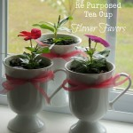 Re Purposed Tea Cup Flower Favors