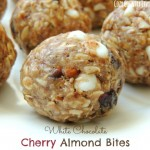 White Chocolate Cherry Almond Bites