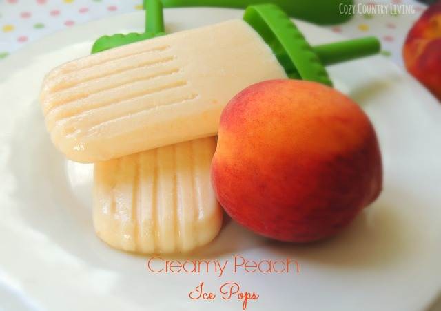Creamy Peach Ice Pops Creamy Peach Ice Pops