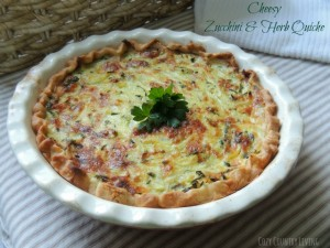 Cheesy Zucchini Herb Quiche