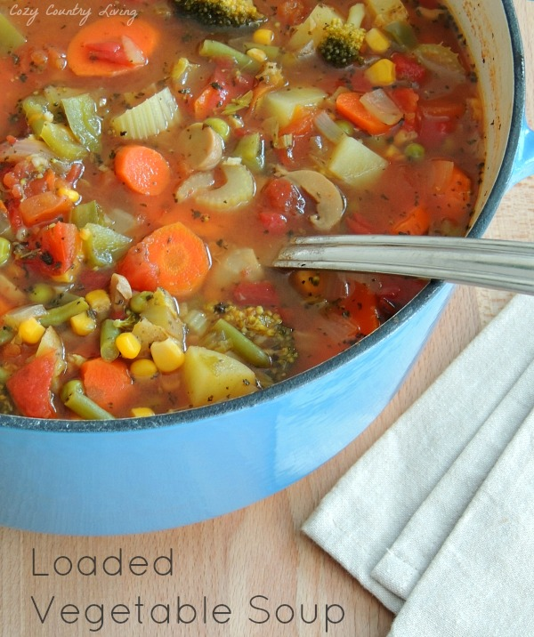 Easy To Make Homemade Loaded Vegetable Soup