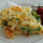 Easter Brunch Potato, Broccoli & Pepper Jack Egg Casserole