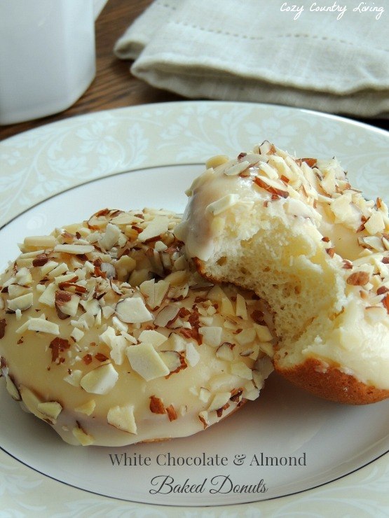 White Chocolate & Almond Baked Donuts