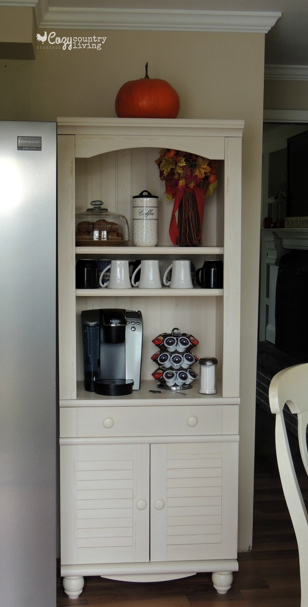 My new bookshelf 3 different ways for How to build a coffee bar