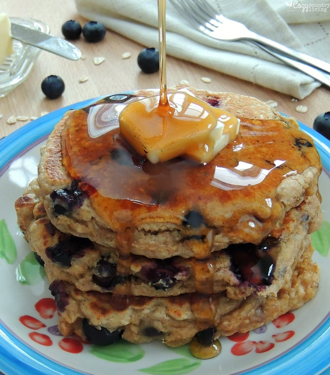 Blueberry Oatmeal Pancakes Recipe — Dishmaps