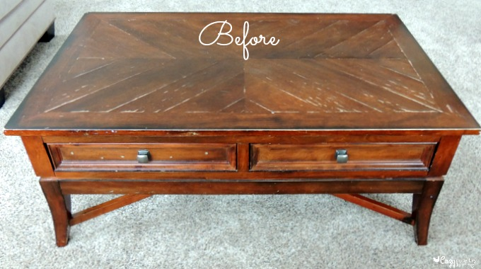 Diy coffee table makeover for Coffee table makeover ideas