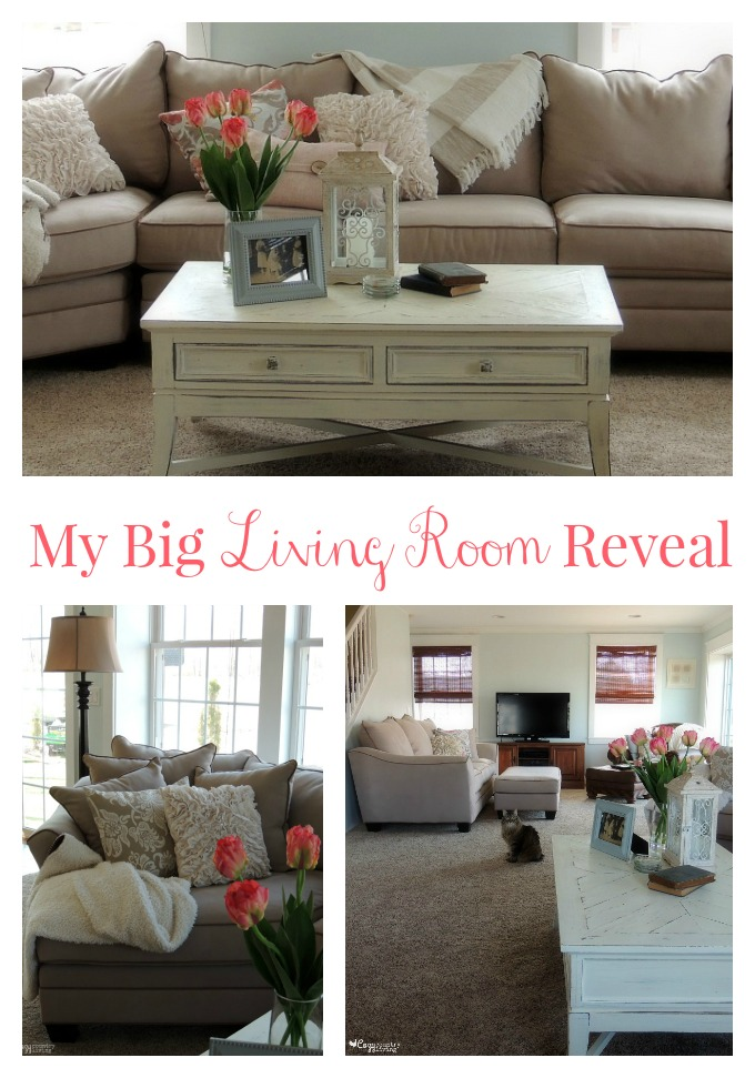 My Big Living Room Reveal #RFBloggers Home Decor