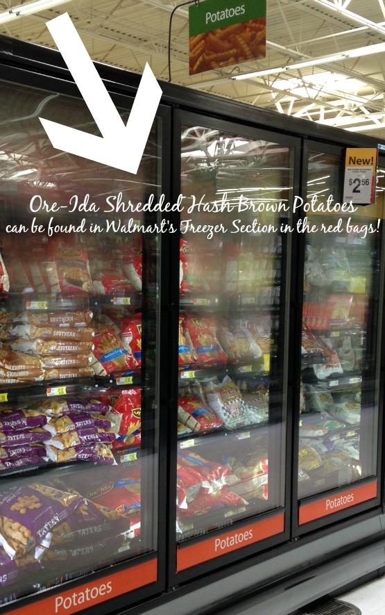 Walmart Ore-Ida Shredded Hash Brown Potatoes